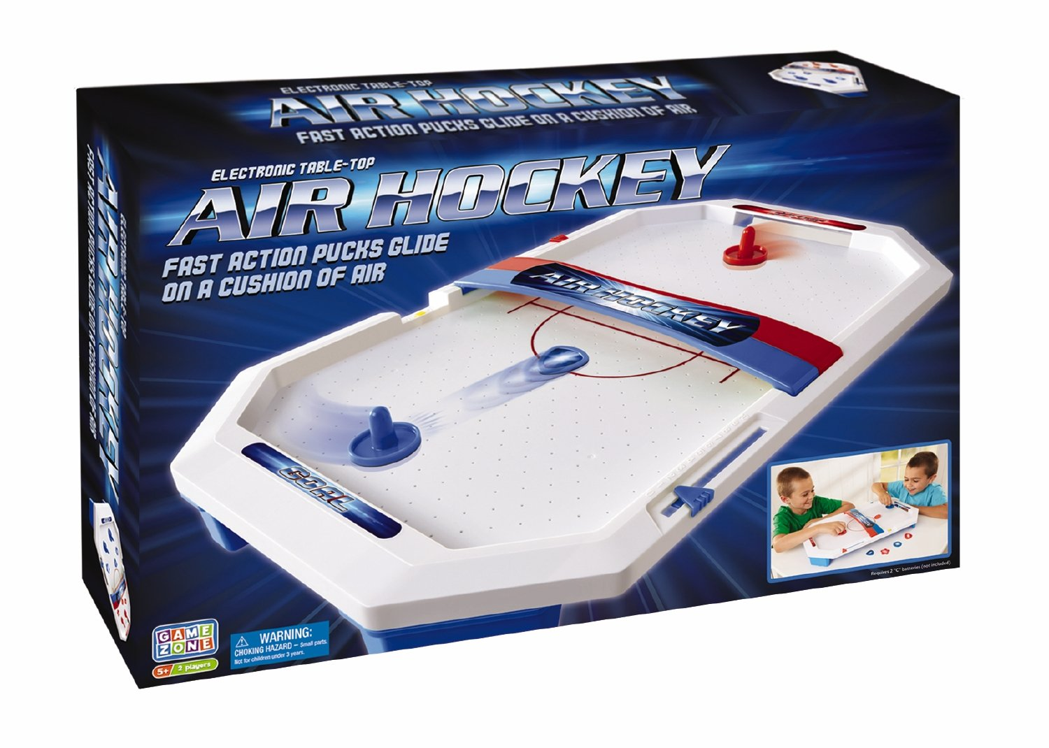 International Playthings Game Zone -  Electronic Table-Top Air Hockey - Fast-Paced Sports Fun in an Easily Portable Battery-Operated Rink for Ages 5 and Up by International Playthings