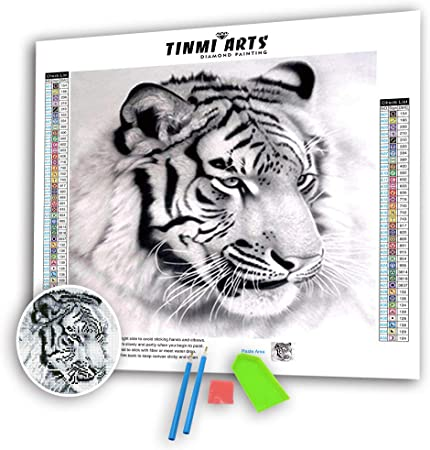 DIY 5D Flag And Tiger Diamond Painting Full Drill Cross Sticth Art Embroidery