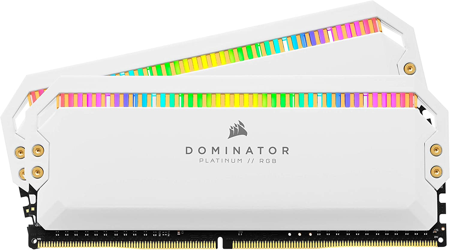 Corsair Dominator Platinum RGB 32GB (2x16GB) DDR4 4000 (PC4-32000) C19 1.35V Desktop Memory - White, CMT32GX4M2K4000C19W