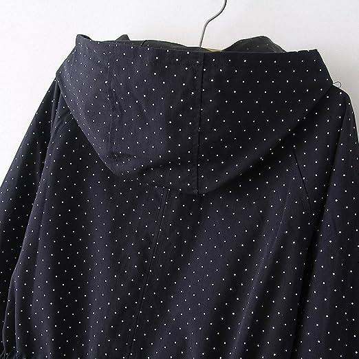 Amazon.com: NEW Trench Coats Autumn Winter Women Cute Polka ...