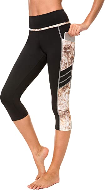 Munvot Womens Yoga Capri Leggings Exercise Workout Pants Gym Tights