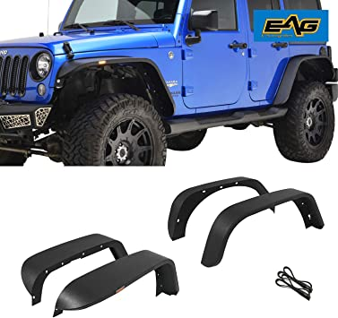 EAG Front Fender Flare LED Ultra Regular Width Fit for 07-18 Jeep Wrangler JK