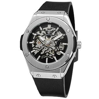 forsining Hombre Classic Reloj de Muñeca Banda De Goma De La Muñeca automática fsg8107 m3s1: Amazon.es: Relojes