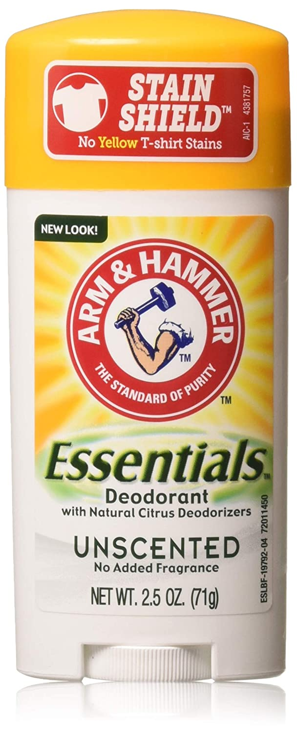 ARM & HAMMER Essentials Natural Deodorant Unscented 2.50 oz (Pack of 10)