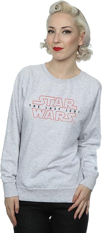 Star Wars mujer The Last Jedi Logo Camisa De Entrenamiento X-Large cuero gris