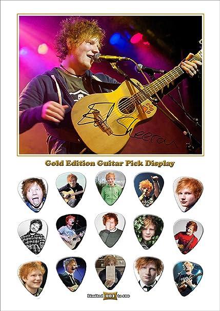 Printed púas Company Ed Sheeran 15 celuloide púas para guitarra ...