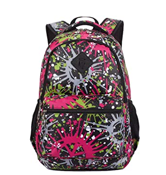 Amazon.com | Colorful Cute Backpack School Book Bag for Girls Black ...