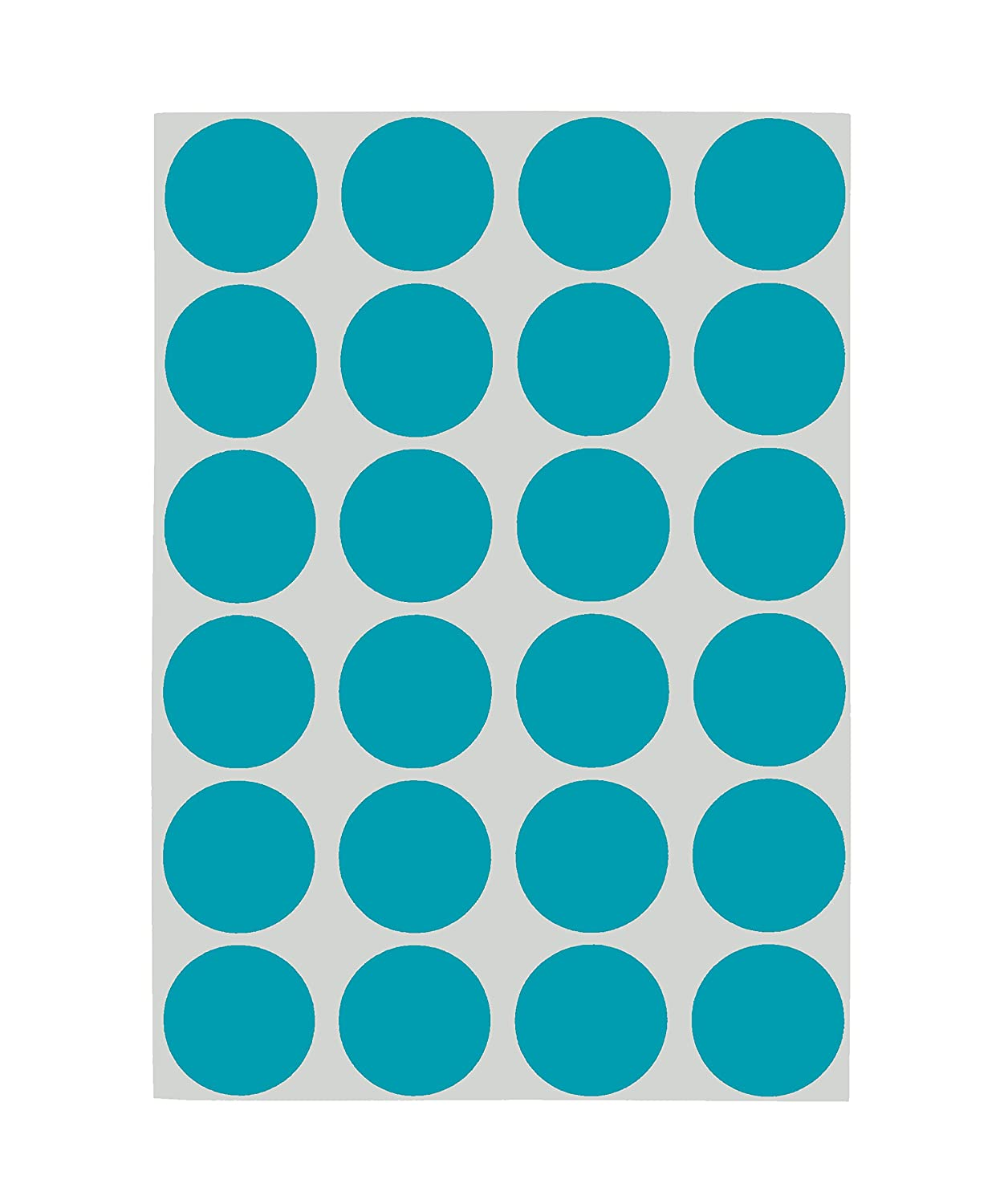 Amazon com chromalabel 3 4 inch removable color code dot labels on sheets 1 008 pack teal office products