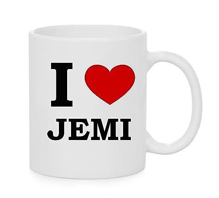 I taza del corazón Jemi (amor): Amazon.es: Hogar