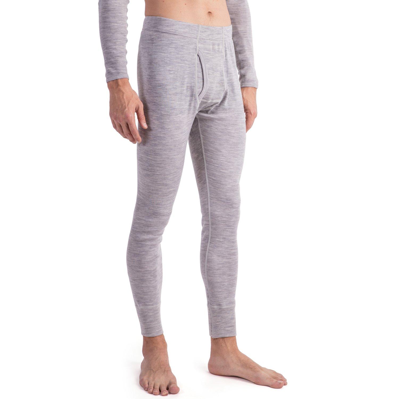 MERIWOOL Men's Merino Wool Midweight Baselayer Bottom - Light Gray/XS