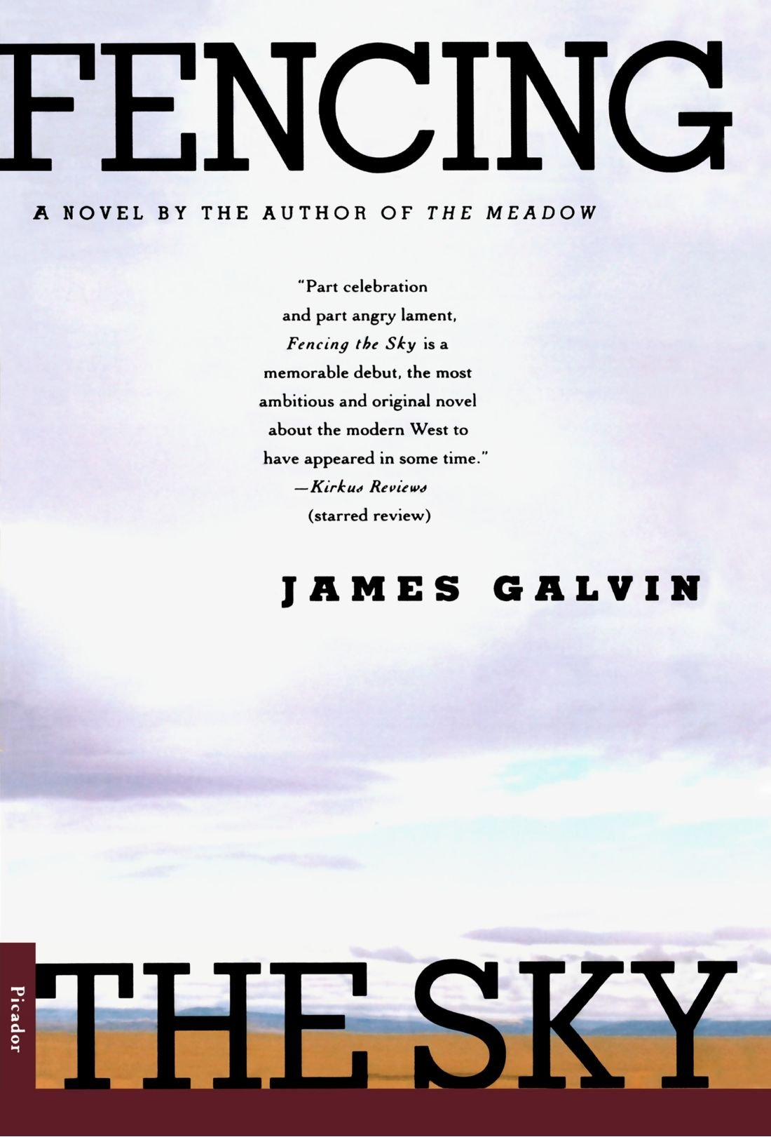 Fencing The Sky: A Novel: James Galvin: 9780312267346: Amazon: Books