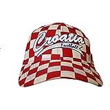 "Croatia White Red ""CROATIA FOOTBALL"" On Brim FIFA Soccer World Cup Embossed Hat Cap .. New - WC .. .. New"