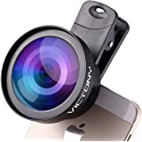 VICTONY Professional 2 in 1 Phone Lens Kit with 0.45X Super Wide Angle Lens + 12.5X Macro Lens Special 52mm Diameter Thread Lens Clip-On Cell Phone Lens
