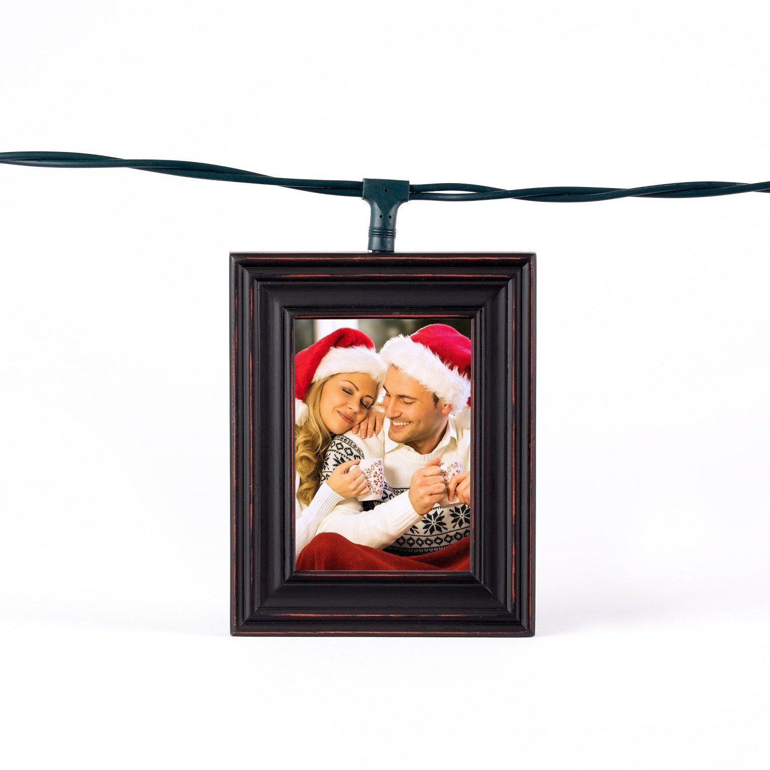 Polaroid 5 Photo Frame Lightboxes - Distressed Black Wood Frame