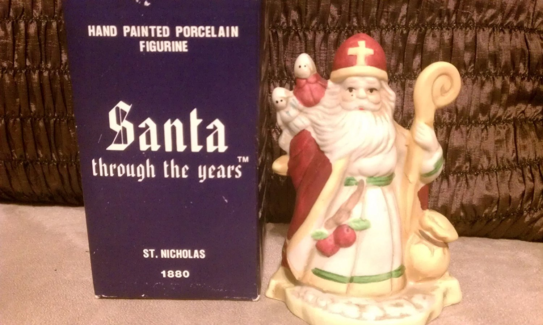Nicholas Porcelain Figurine 1990 RSVP International Santa Through the Years 1880 St