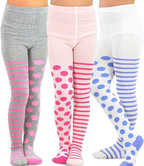 Essentials Girls 3-Pack Cotton Tights