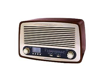 Sunstech RPR4000WD - Radio de sobremesa (3 W RMS, AM/FM, USB ...