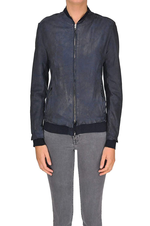 Salvatore Santgold Women's MCGLCSL000005003E bluee Leather Outerwear Jacket