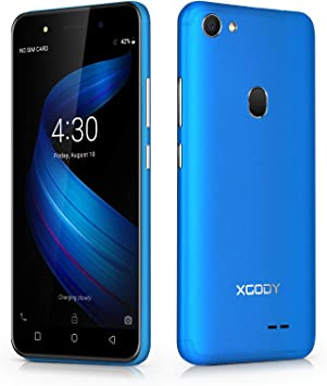Xgody X6 Android Go 8.1 Smartphone Unlocked, 5 Inch Sim Free Mobile Phone 3G Dual SIM 1GB RAM+8GB ROM 13MP+5MP Dual Camera, WiFi, GPS BT Cell Phone (Blue): Amazon.es: Electrónica
