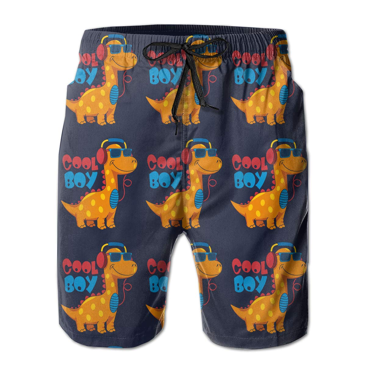 Mens Swim Trunk with Pockets,Cute Elephant,Summer Surf Quick Dry Beach Board Shorts Pants Bathing Suit