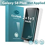 S8 Plus Screen Protector, Klearlook [Wet Applied Series] [2+1+1 in Pack Not Glass-2 Case-Friendly Screen Protector Films+1 Full Coverage Screen Protector+1 Carbon Fibre Back Skin] for Galaxy S8 Plus