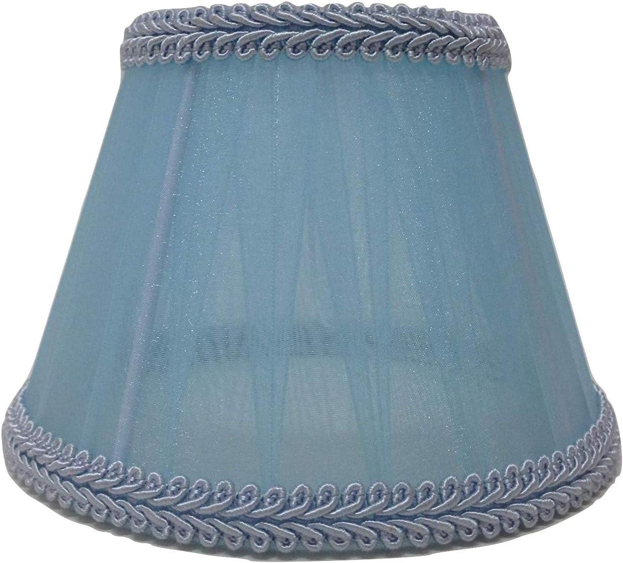 Tessuto celeste a pieghe candela a incastro paralume da soffitto paralume a mano