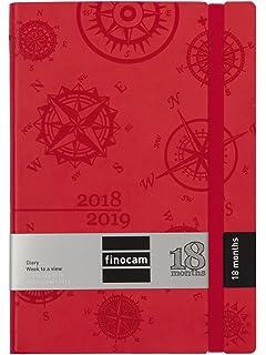 takestop Agenda 2019 Rojo Diaria Diario planificador 17 x ...