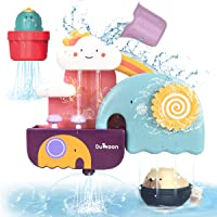 GILOBABY Bath Toys for Toddlers, Baby Bathtub Wall Toy Elephant Waterfall Fill Spin and Flow with Bear and Cactus , Kids…