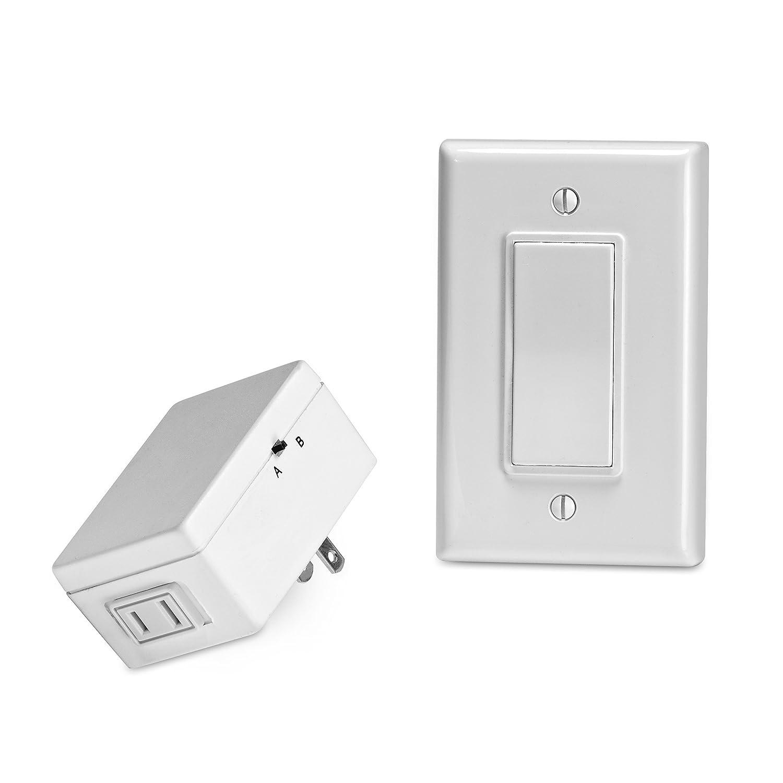 Leviton 6697-W Anywhere Switch/Plug-In RF Remote Decora Rocker ...