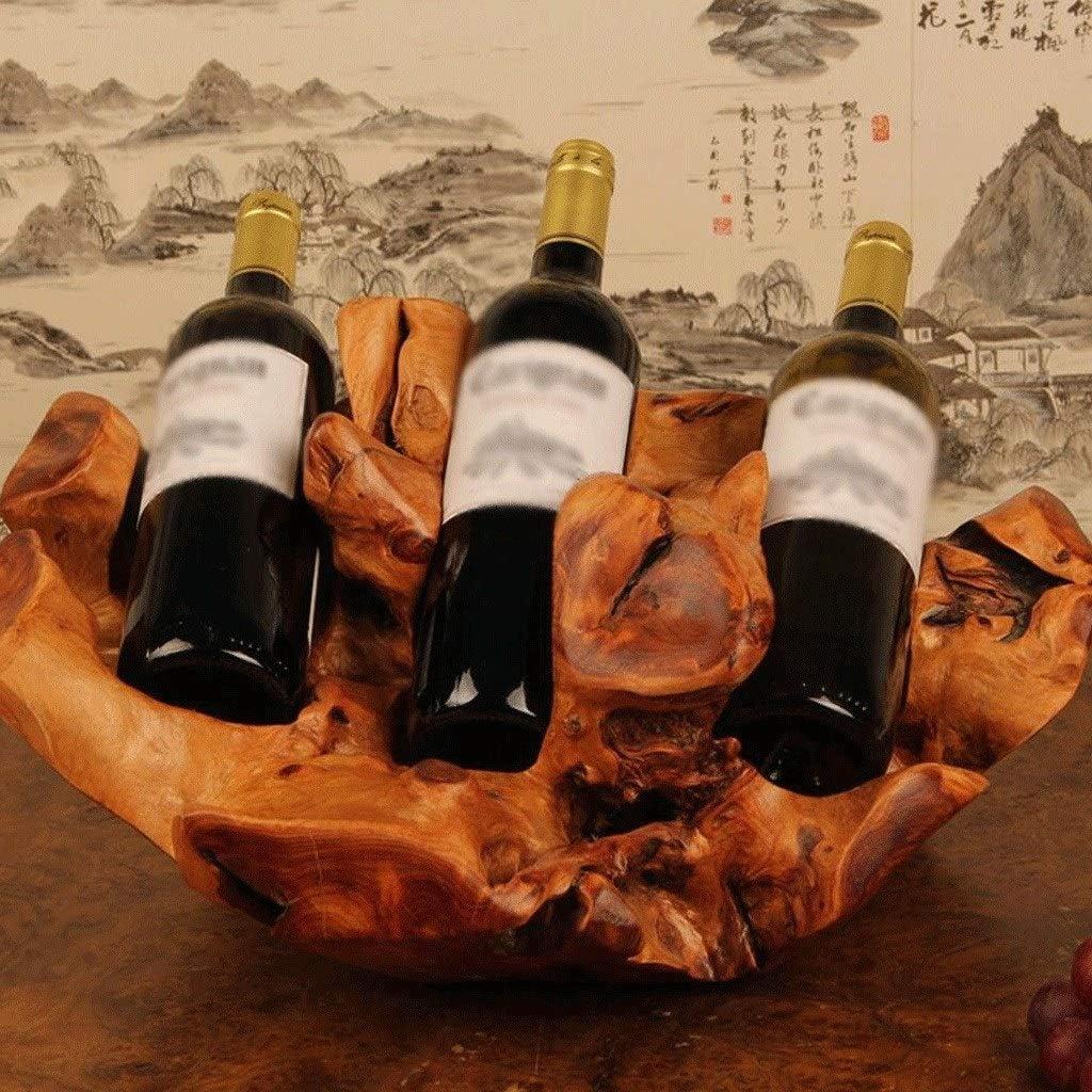 置物・オブジェ ワインラック木彫り赤ワインラック収納ラック装飾品クリエイティブファッションワインラック家の装飾 工芸品の彫刻