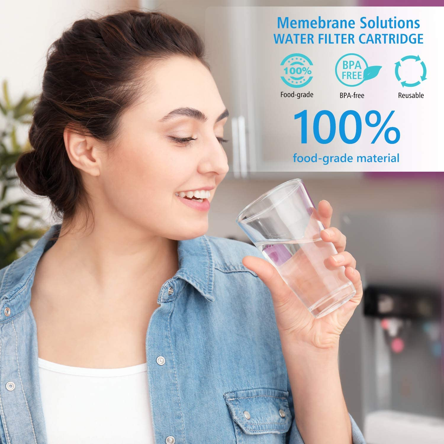 SimPure 3 Stage Dual Countertop Water Filter with Carbon Block and Ceramic Cartridge, Water Purifier Filtration System Removes 99.99% Harmful Contaminants for Healthier Water, 304 Stainless Steel: Home & Kitchen