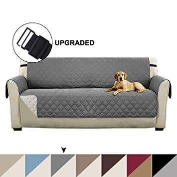 Turquoize Reversible Sofa Protector Slip Resistant Sofa Slipcover Protector with 2