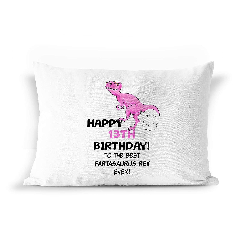 13th Birthday Dinosaur Gift Pillowcase