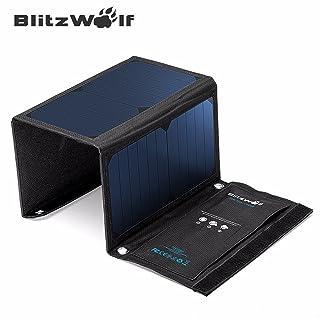 Cargador Panel Solar,BlitzWolf 20W/3 A (más de 21% SunPower Conversión) Batería Placa Plegable con Dual Puertos iSmart USB para Móviles, Tablets y Otros Dispositivos Digitales