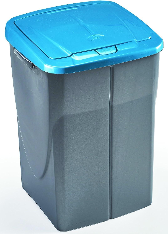45 L mondex Consumo PLS 8082-82 Roll Top-Cubo de Basura de Reciclaje de Cocina con Tapa de pl/ástico 36 x 36,5 x 51 cm 45 L Bleu Tropic pl/ástico