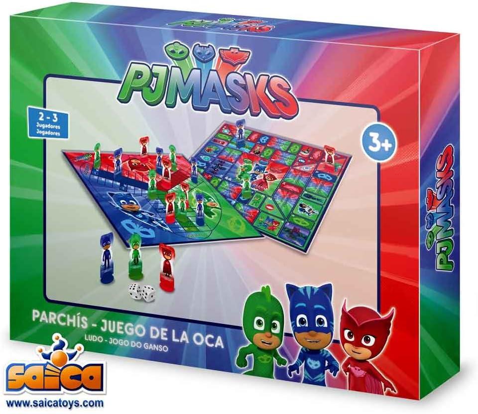 PJ Masks Juego de Mesa Parchís y Oca (Amijoc 2968): Amazon.es: Juguetes y juegos