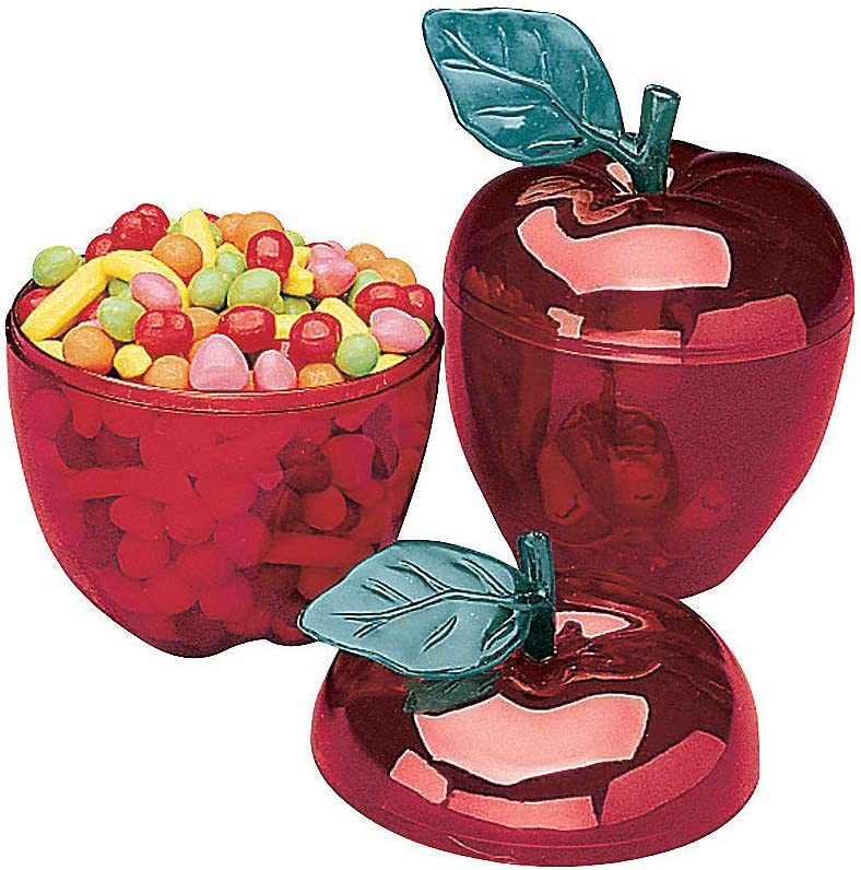 Red Apple Container for Favors (Set of 12) - Teacher Supplies