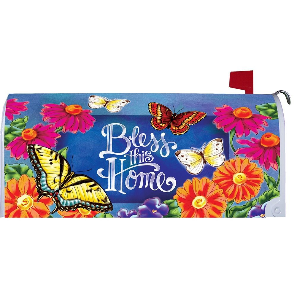 Bless This Home - Mailbox Makeover - Vinyl with Magnetic Strips - Licensed, Copyright and Made in the USA by Custom Decor Inc.