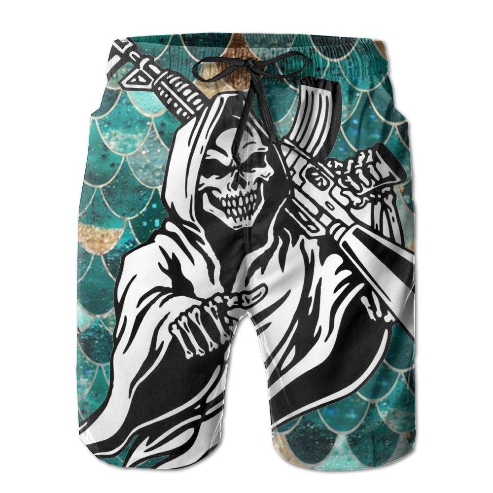 Horizon-t Beach Shorts Ghost Rider Mens Fashion Quick Dry Beach Shorts Cool Casual Beach Shorts