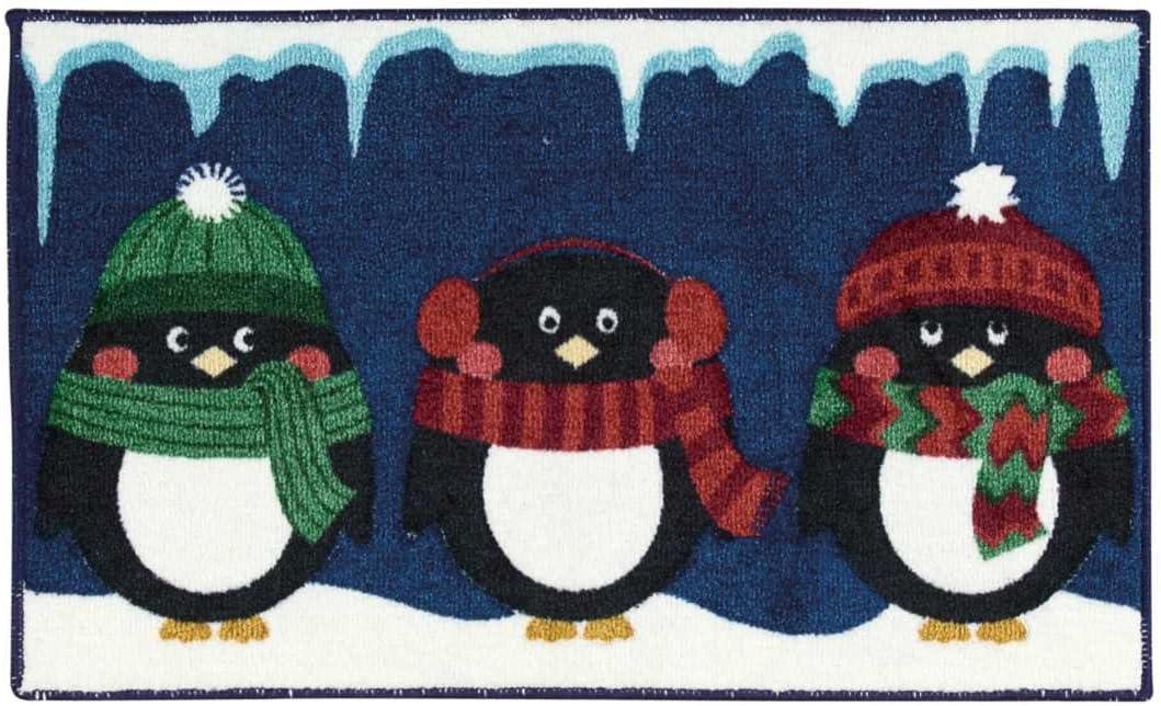 Nourison Navy Three Penguins Rug