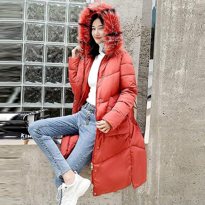 Linlink Las Mujeres Abrigo Caliente Abrigo con Capucha Chaqueta de algodón Acolchado: Amazon.es: Ropa y accesorios
