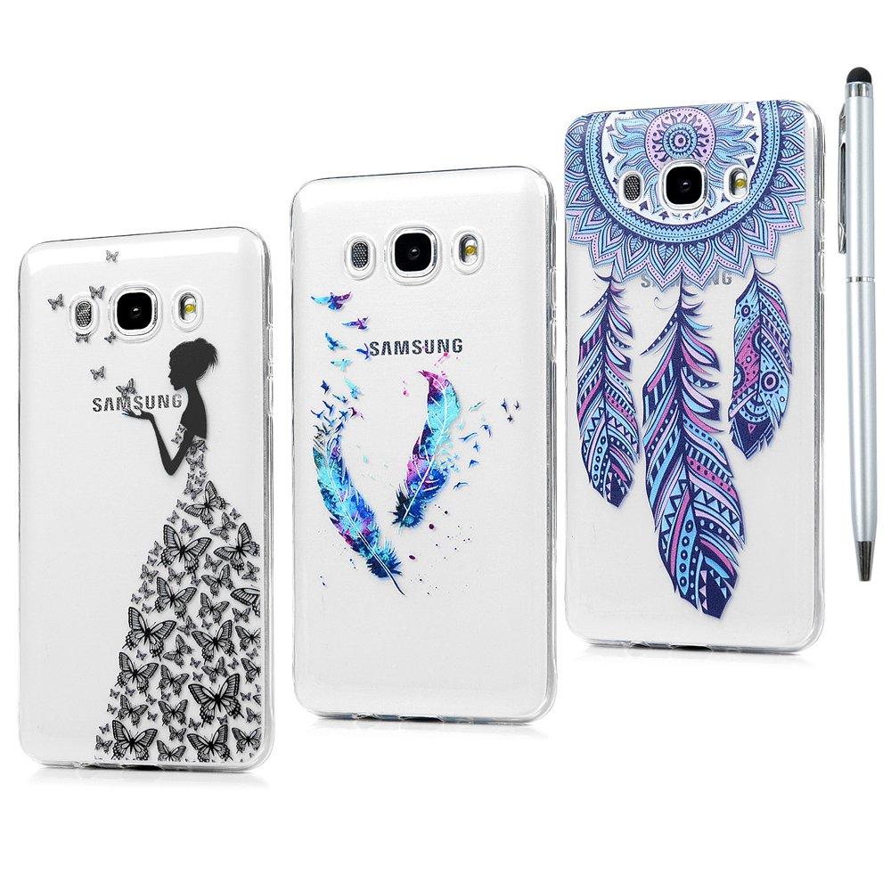 Dream Catcher Ananas 3X Coque pour Galaxy J7 2016 Silicone TPU Antichoc R/ésistant Case Cover T/él/éphone Portable Coque Protection pour Samsung Galaxy J7 2016 Tour de V/élo