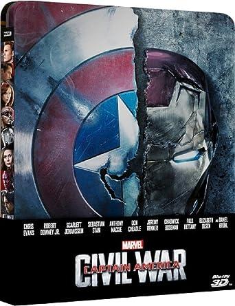 Captain America Civil War 2016 Blu Ray 3d 2d Blu Ray Steelbook Exclusive Limited Edition Gift Steelbook S Foil Region Free Amazon Co Uk Dvd Blu Ray