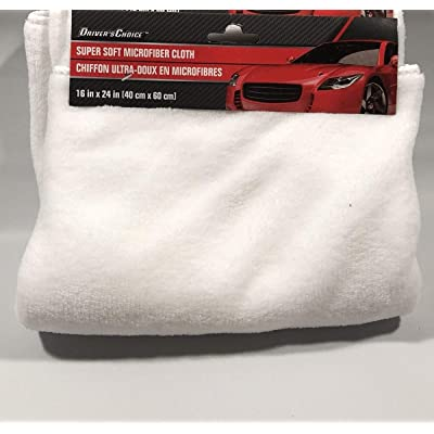 "Driver's Choice White Microfiber Towel Car Cleaning Super Soft 16"" X 24"": Automotive"