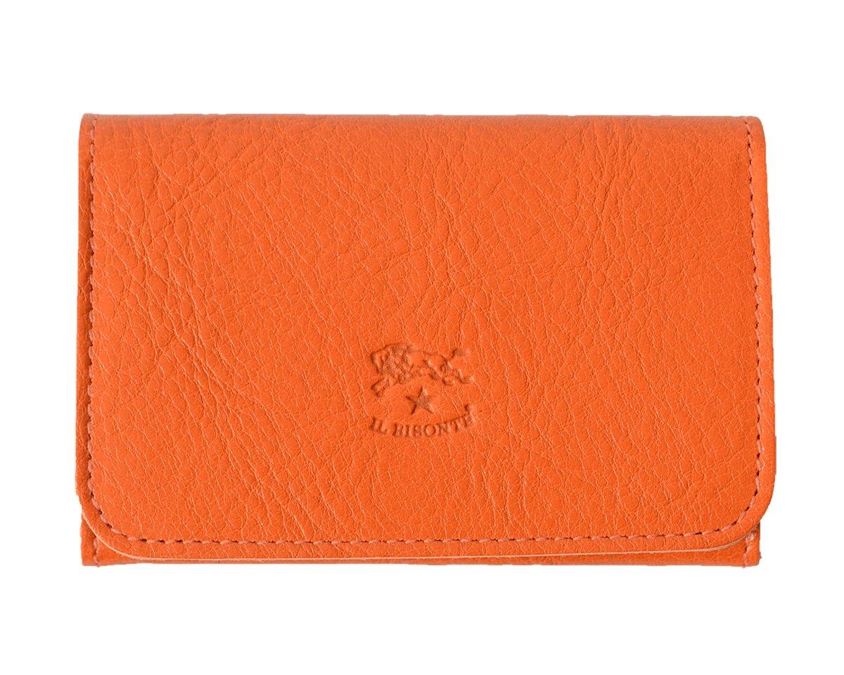 国内正規販売店 (イルビゾンテ) IL BISONTE 2つ折り レザー カードケース411620 ユニセックス B072JR4CPW orange(col.66) orange(col.66)