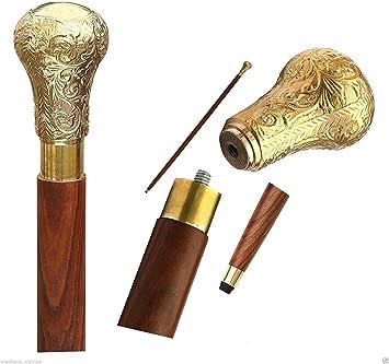Antiques Walking Sticks/canes Bone Antique Knob Head Handle Designer For Walking Cane Vintage Wooden Stick