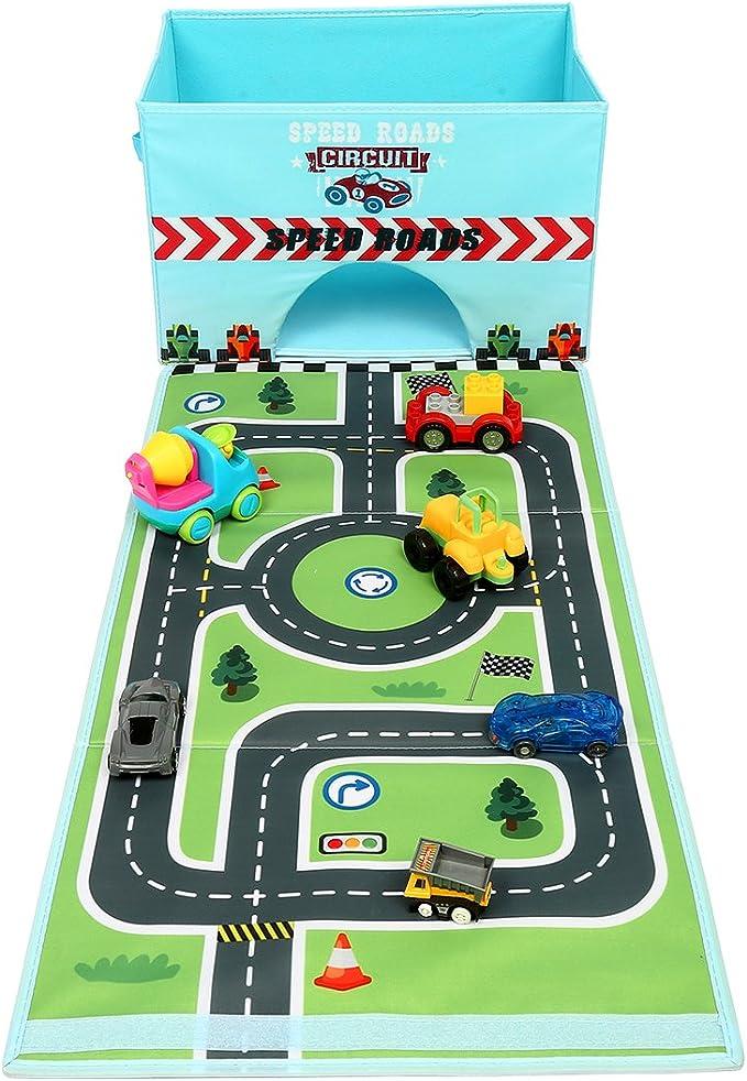 Hot Wheels Zipbin 300 voiture de rangement cube et Tapis pour voitures camions Toy Box New