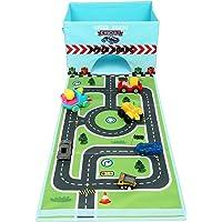Livememory Pliable Jouet Boîte de Rangement Tissu Toys Organiseur avec Fun Tapis de Jeu pour Enfants