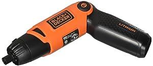 BLACK+DECKER Li2000 3.6-Volt 3 Position Rechargeable Screwdriver, Orange/Black