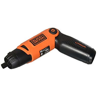 BLACK+DECKER Cordless Screwdriver with Pivoting Handle, 3.6V (Li2000)